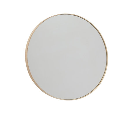 OYOY Miroir Mun en bois naturel verre Ø70x2.3cm