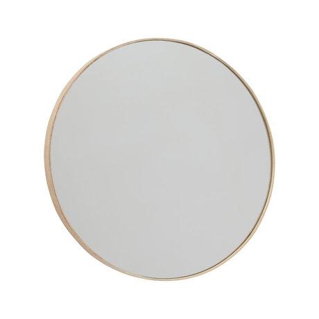 OYOY Mirror Mun natural wood glass Ø70x2.3cm