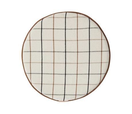 OYOY Kissengitter cremefarbenes Textil Ø38x2,5 cm