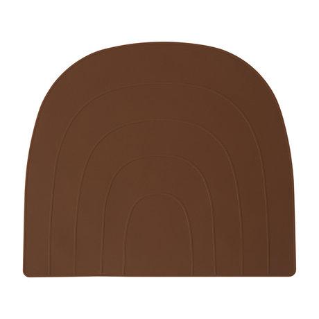 OYOY Set de table Rainbow silicone caramel marron 34x41cm
