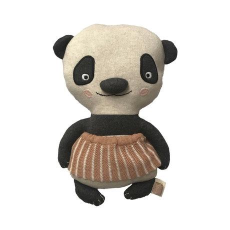 OYOY Knuffel Lun Lun Panda multicolour textiel 28x18cm
