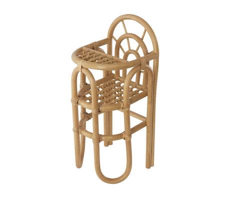 OYOY Mini stoel voor knuffel Rainbow naturel rotan 22x23,5x52cm