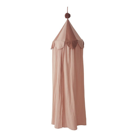OYOY Klamboe Ronja roze textiel Ø60x240cm
