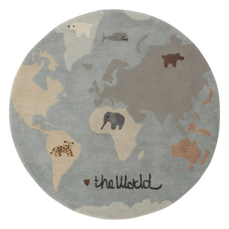 OYOY Tapis The World textile multicolore Ø120cm