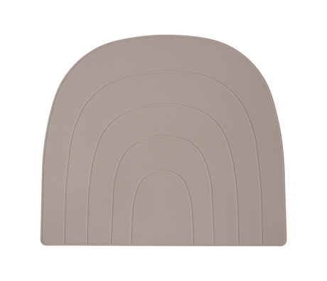 OYOY Placemat Rainbow gray silicone 34x41cm
