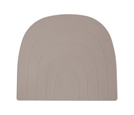 OYOY Tischset Regenbogen graues Silikon 34x41cm