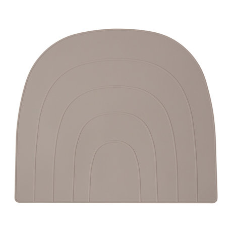 OYOY Set de table Rainbow gris silicone 34x41cm
