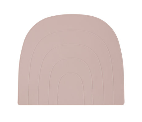 OYOY Placemat Rainbow pink silicone 34x41cm