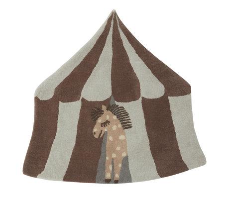 OYOY Teppich Pippa mehrfarbiges Textil 90x100cm