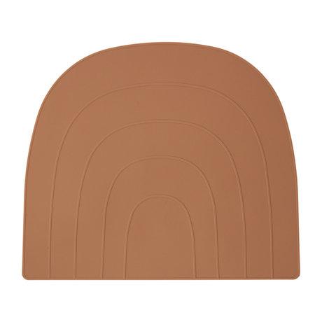 OYOY Placemat Rainbow orange silicone 34x41cm