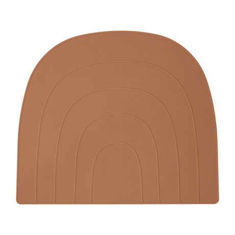 OYOY Tischset Regenbogen orange Silikon 34x41cm