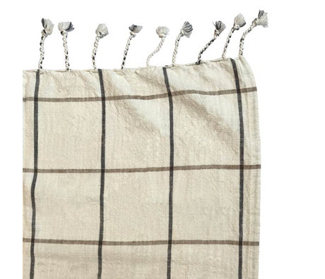 OYOY Bedspread Gobi off-white cotton 270x270cm
