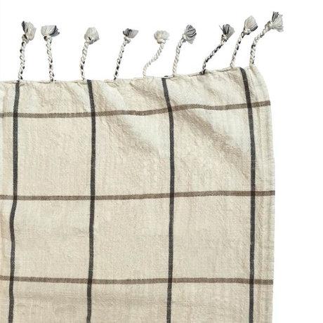 OYOY Couvre-lit Gobi coton blanc cassé 270x270cm