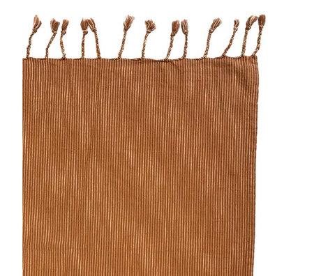 OYOY Bedspread Gobi caramel brown cotton 270x270cm