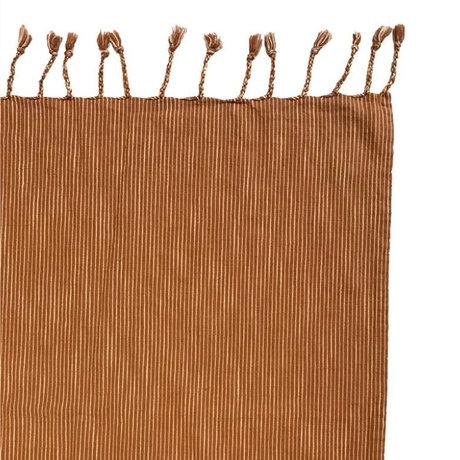 OYOY Couvre-lit Gobi coton caramel marron 270x270cm