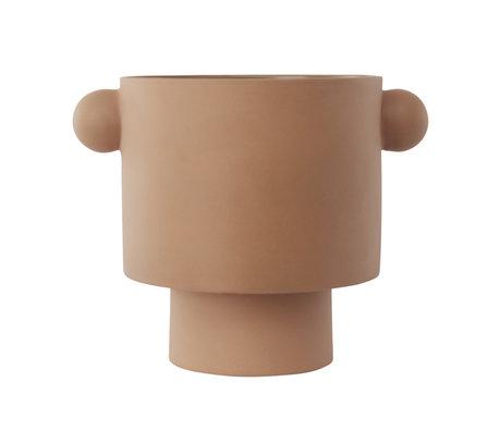 OYOY Pot Inka Kana large camel brown ceramic Ø30x23cm