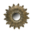 BePureHome Spiegel Bekenne antikes Messing Gold Metall Ø32cm