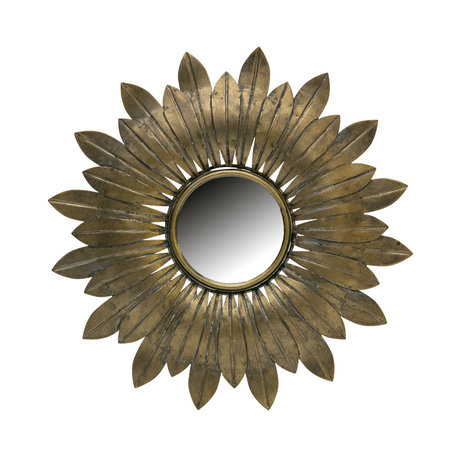 BePureHome Mirror Confess antique brass gold metal Ø32cm
