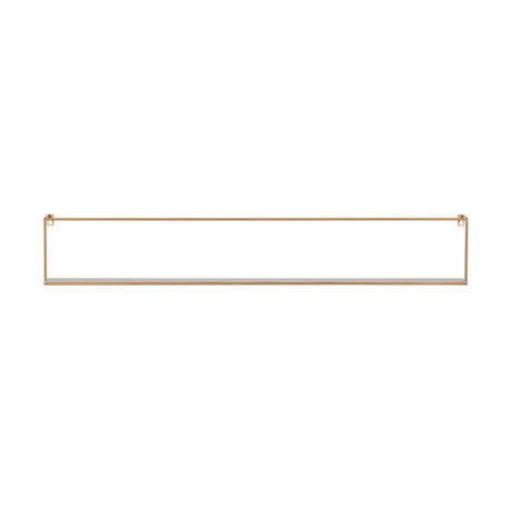 LEF collections Wall shelf Meert gold iron 16x100x8cm