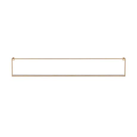 LEF collections Wandplank Meert goud ijzer 100x8x16cm
