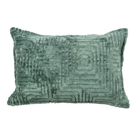 LEF collections Coussin Ezra textile vert océan 40x60cm
