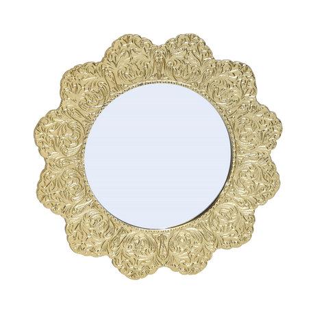 BePureHome Mirror Image antique brass gold aluminum 32x32x2cm