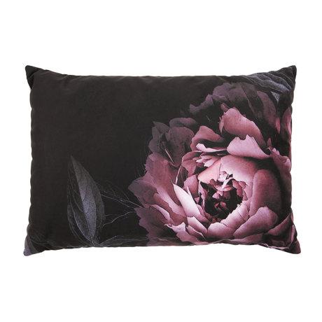 BePureHome Kissen Blume mehrfarbiger Samt 40x60cm