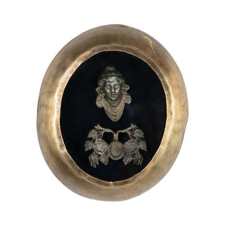BePureHome Wanddecoratie Art antiek brass goud metaal 23x4x28cm