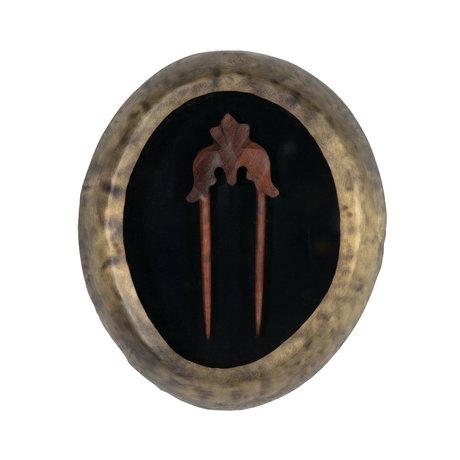 BePureHome Wanddecoratie Hairpin antiek brass goud metaal 23x4x28cm