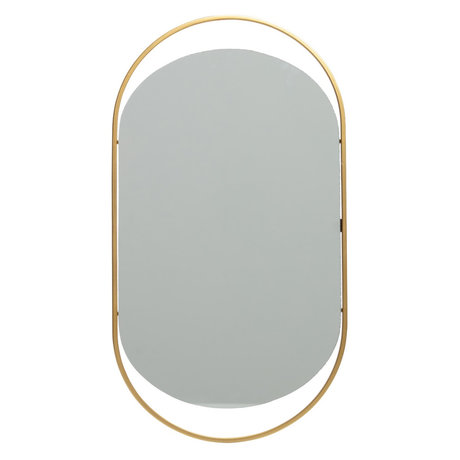 LEF collections Mirror Sanou antique brass gold metal 50x27cm