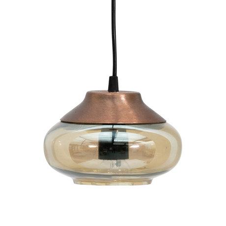BePureHome Hanging lamp Sultry brown glass iron Ø17cm
