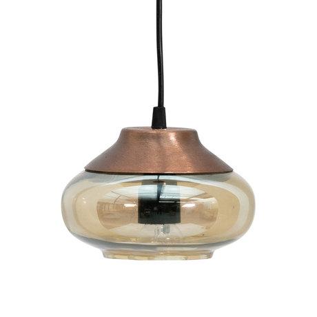 BePureHome Lampe à suspension Sultry verre brun fer Ø17cm