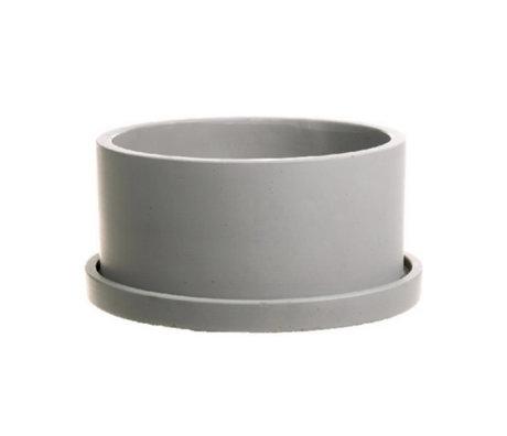 wonenmetlef Pot Rustiq grijs aardewerk Ø22x12cm