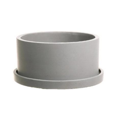wonenmetlef Pot en faïence Rustiq gris Ø22x12cm