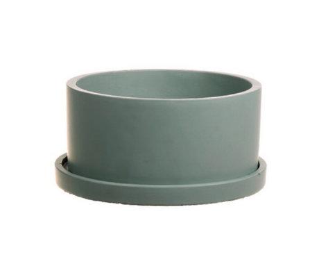 wonenmetlef Rustiq pot green pottery Ø22x12cm