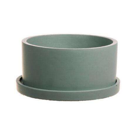 wonenmetlef Pot Rustiq poterie verte Ø22x12cm
