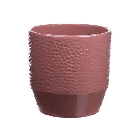 wonenmetlef Blumentopf Pisa Dots alte rosa Keramik Ø14x13cm