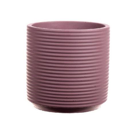 wonenmetlef Parma Blumentopf alte rosa Keramik Ø19x18cm