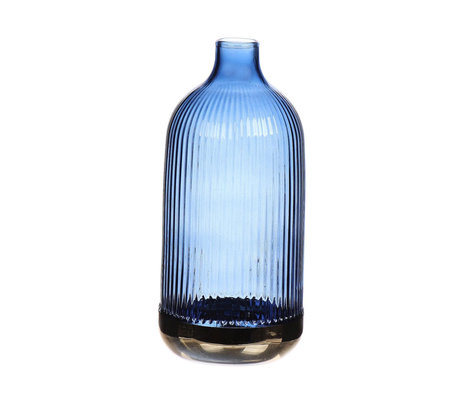 wonenmetlef Fles Cloyes blauw glas Ø9x19,5cm