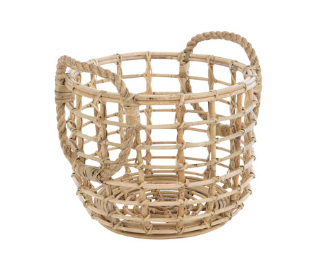 wonenmetlef Storage basket Penokee brown bamboo Ø40x33cm