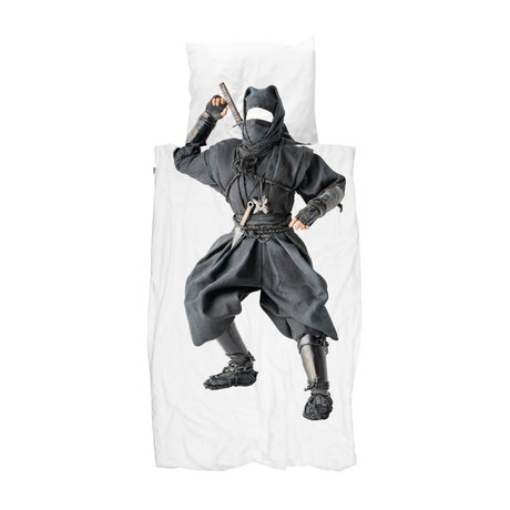 Snurk Beddengoed Housse de couette Ninja 140x200 / 220 cm avec taie d'oreiller 60x70cm