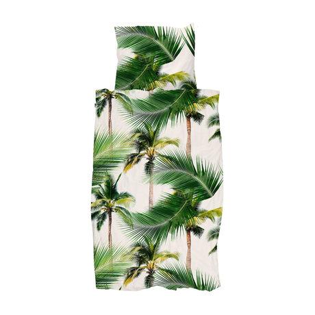 Snurk Beddengoed Housse de couette palm beach 140x200 / 220 cm avec taie d'oreiller 60x70cm