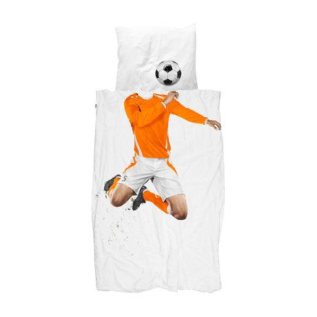 Snurk Beddengoed Duvet cover soccer Champ Orange 140x200 / 220 cm incl. Pillowcase 60x70cm