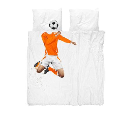 Snurk Beddengoed Bettbezug Fußball Champ Orange 200x200 / 220 cm inkl. 2 Kissenbezüge 60x70cm