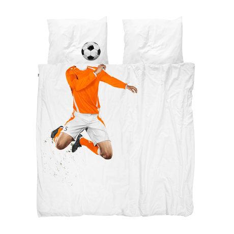 Snurk Beddengoed Housse de couette soccer Champ Orange 200x200 / 220 cm incl.2 taies d'oreiller 60x70cm