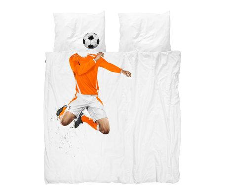 Snurk Beddengoed Housse de couette soccer Champ Orange 240x200 / 220 cm incl.2 taies d'oreiller 60x70cm