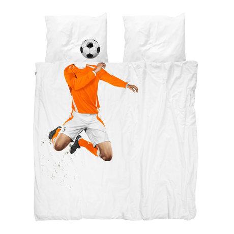 Snurk Beddengoed Bettbezug Fußball Champ Orange 240x200 / 220 cm inkl. 2 Kissenbezüge 60x70cm