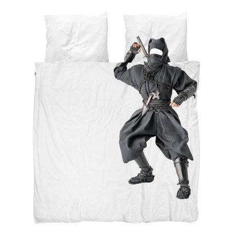 Snurk Beddengoed Housse de couette Ninja 200x200 / 220 cm avec 2 taies d'oreiller 60x70cm