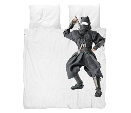 Snurk Beddengoed Housse de couette Ninja 240x200 / 220 cm avec 2 taies d'oreiller 60x70cm