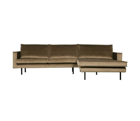BePureHome Bank Rodeo velours taupe 300x86 / 155x85cm